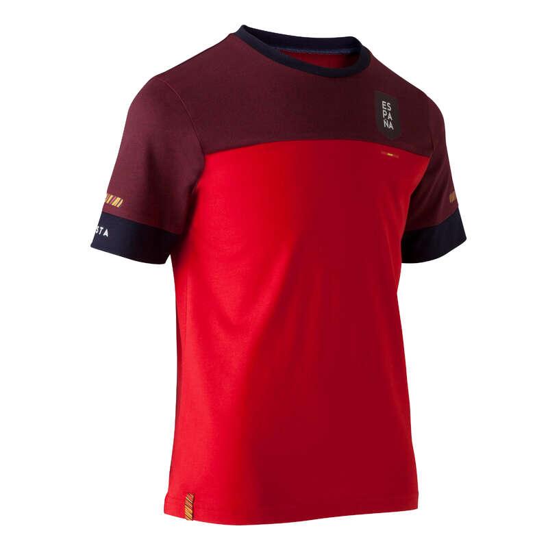 ŠPANĚLSKO Fotbal - DĚTSKÉ TRIČKO FF100 ŠPANĚLSKO KIPSTA - Fotbalové oblečení