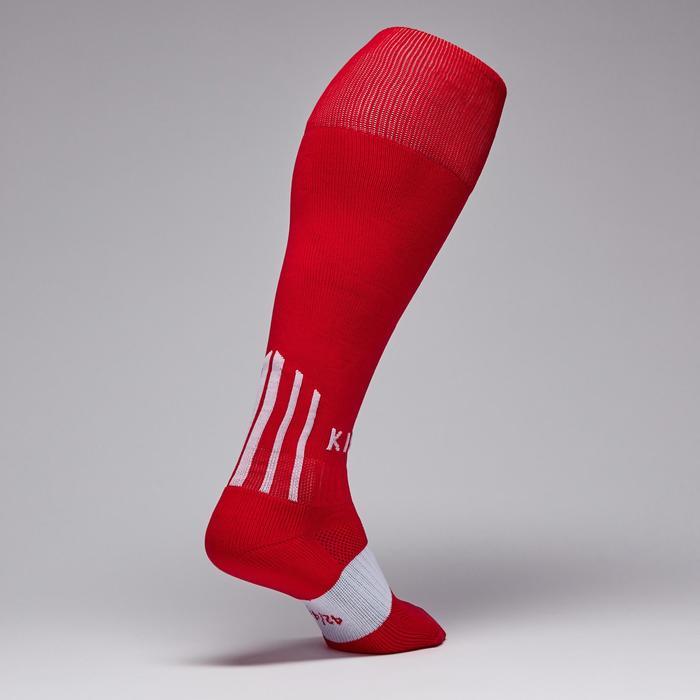Medias de fútbol adulto F500 rojo