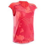 Rožnata ženska kolesarska majica brez rokavov ST 500