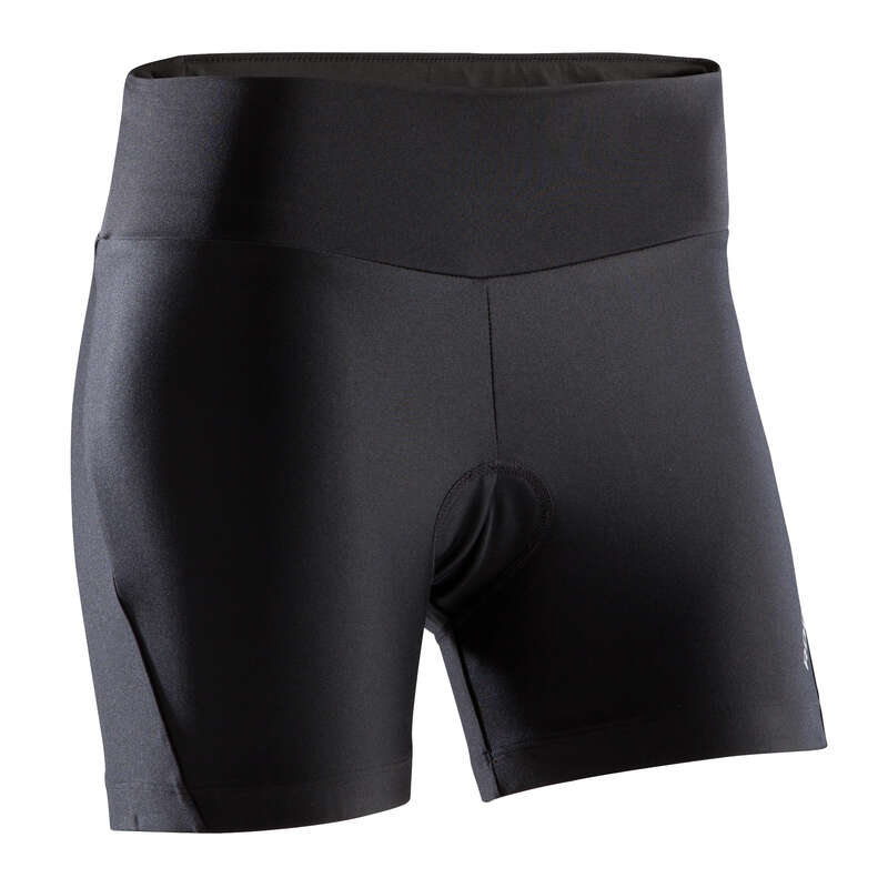 W WARM WEATHER ST MTB APPAREL Clothing - ST 100 Women's Padded Cycling Shorts - Black ROCKRIDER - By Sport
