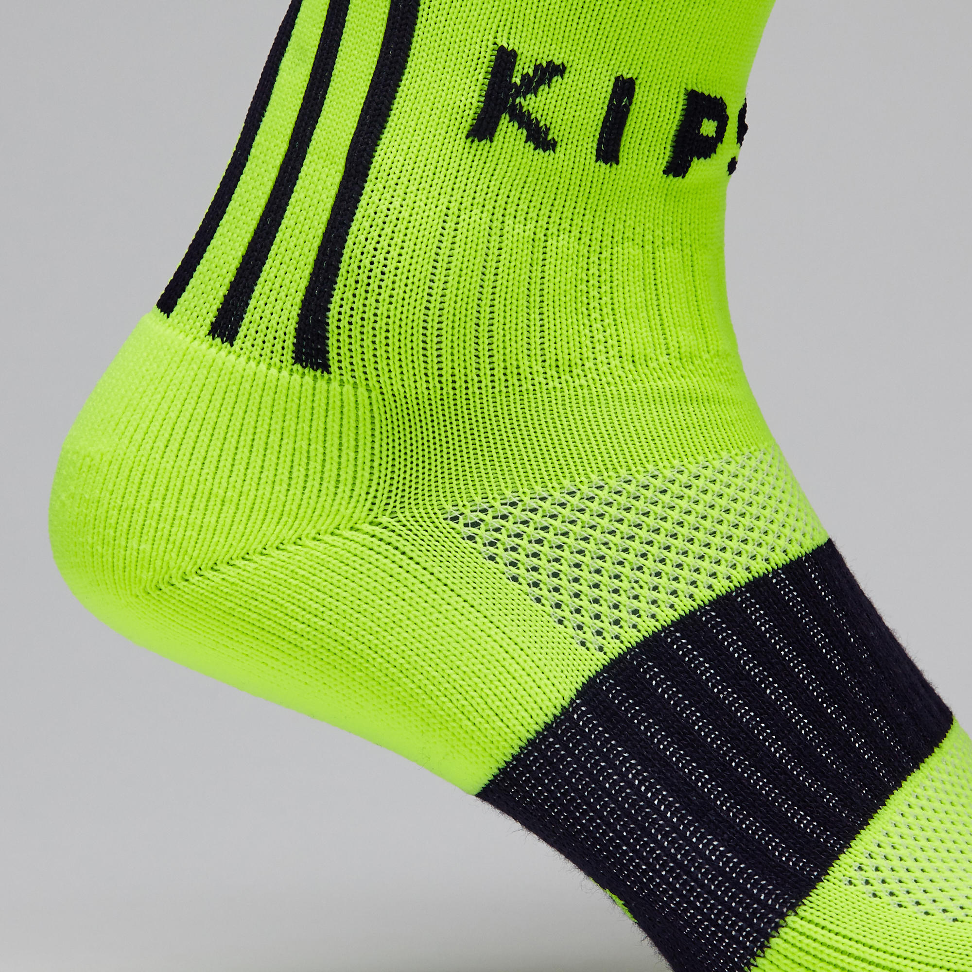 Adult Football Socks F500 - Neon Yellow/Black