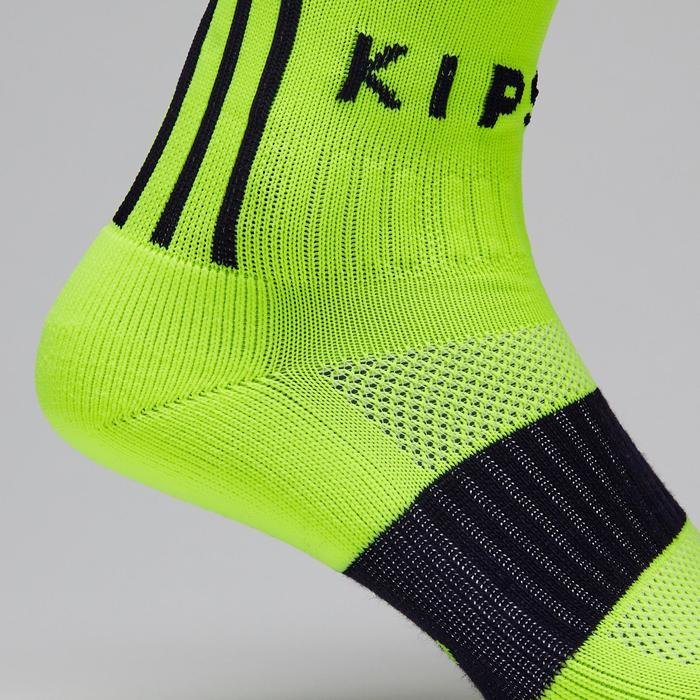 F500 Adult Football Socks - Neon Yellow/Black