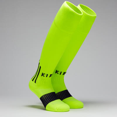 F500 Adult Football Socks - Neon Yellow/Black