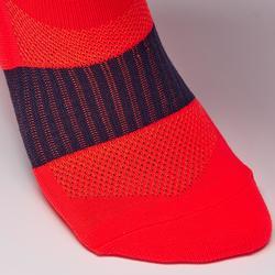 F500 Adult Football Socks - Neon Orange/Grey