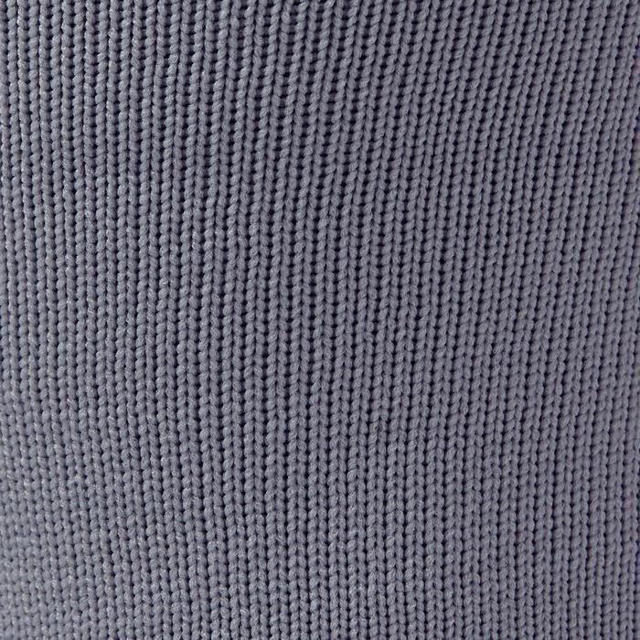 Chaussette de football adulte F500 noire et grise - 1276594