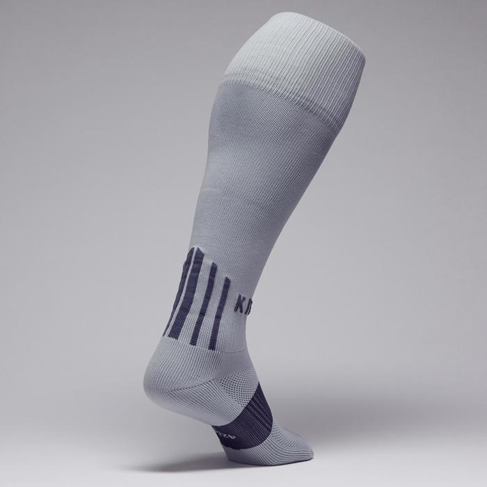Chaussette de football adulte F500 noire et grise - 1276595