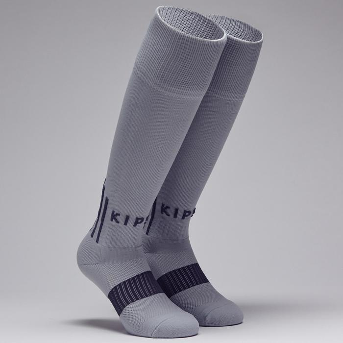 Chaussette de football adulte F500 noire et grise - 1276597