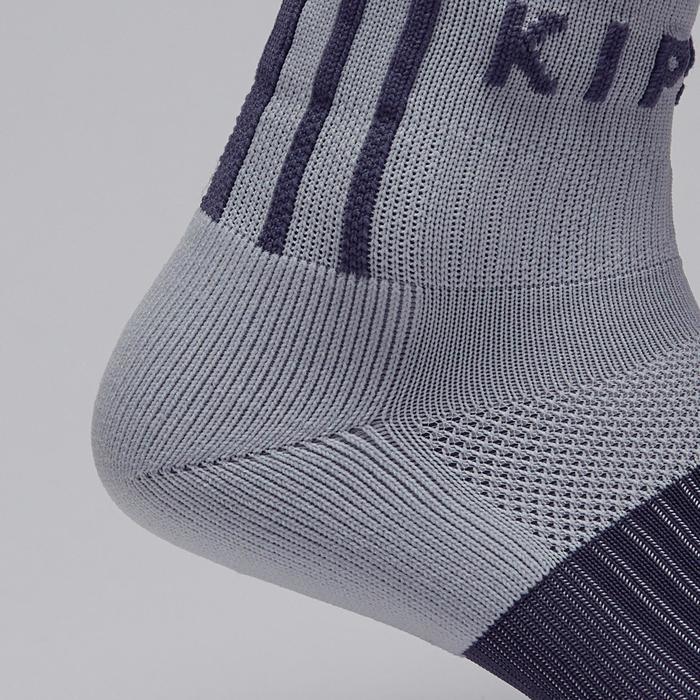Chaussette de football adulte F500 noire et grise - 1276598