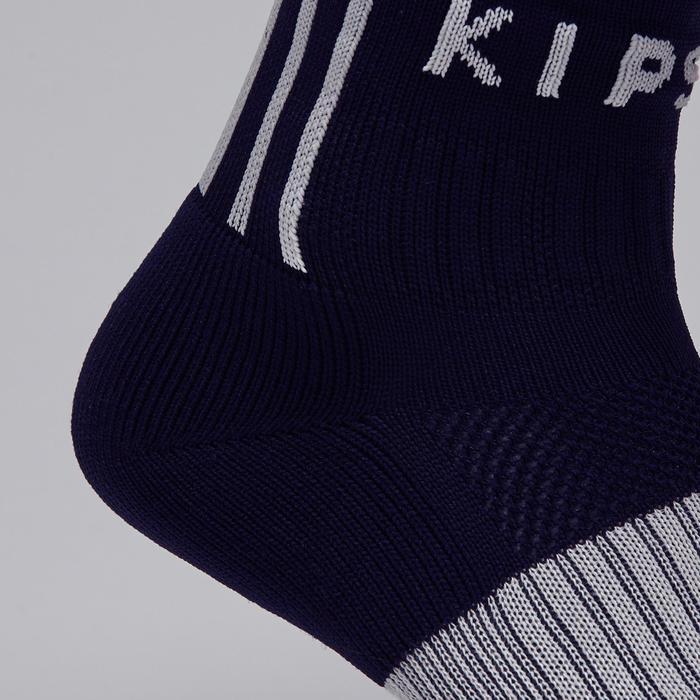 Chaussette de football adulte F500 noire et grise - 1276602