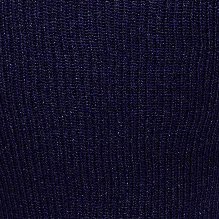 Medias de fútbol adulto F500 azul marino y gris
