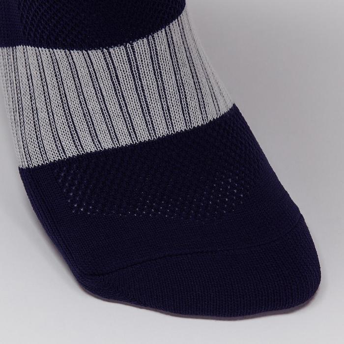 Chaussette de football adulte F500 noire et grise - 1276606
