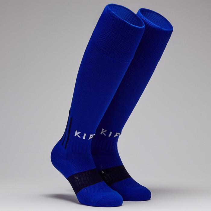 Chaussette de football adulte F500 bleue indigo