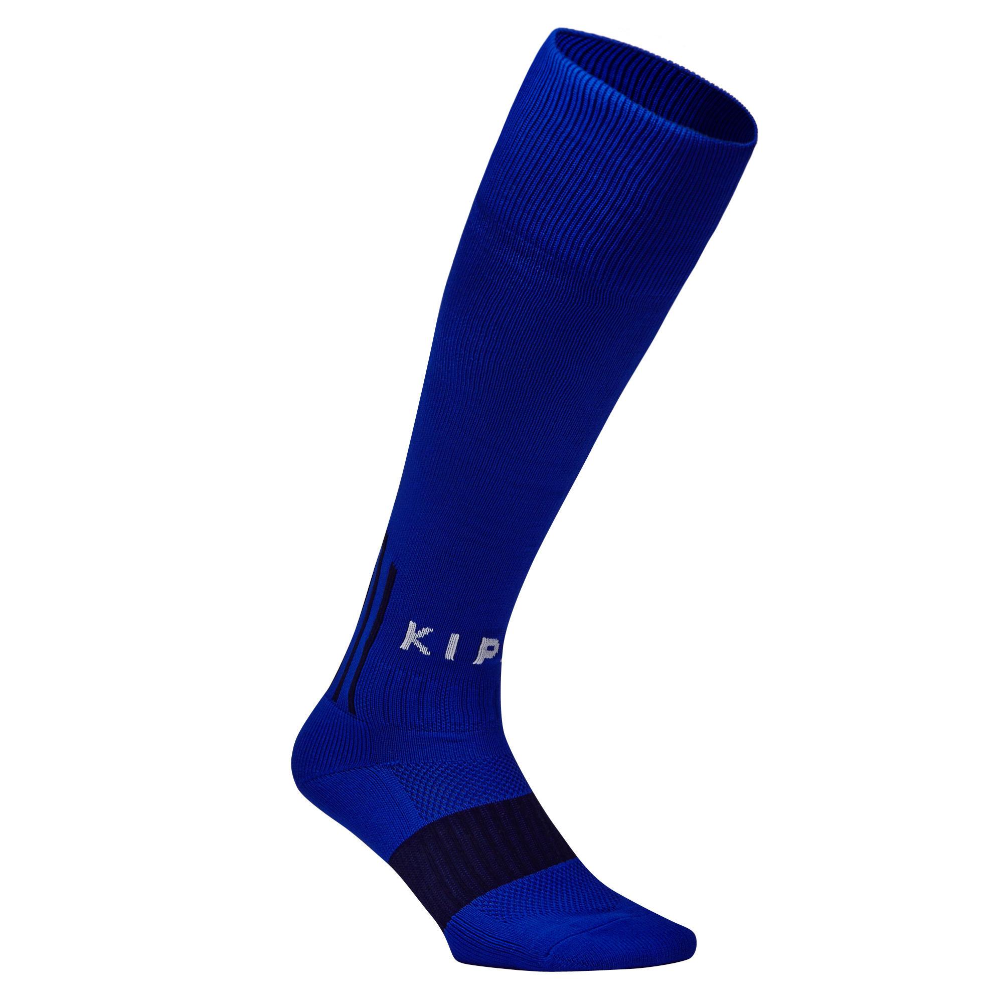 Calcetas de fútbol adulto F500 azul índigo
