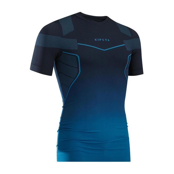 成人短袖透氣底層衣 Keepdry 500 - 鋼青色