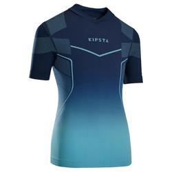 兒童短袖透氣底層衣 Keepdry 500 - 藍色/土耳其藍漸層
