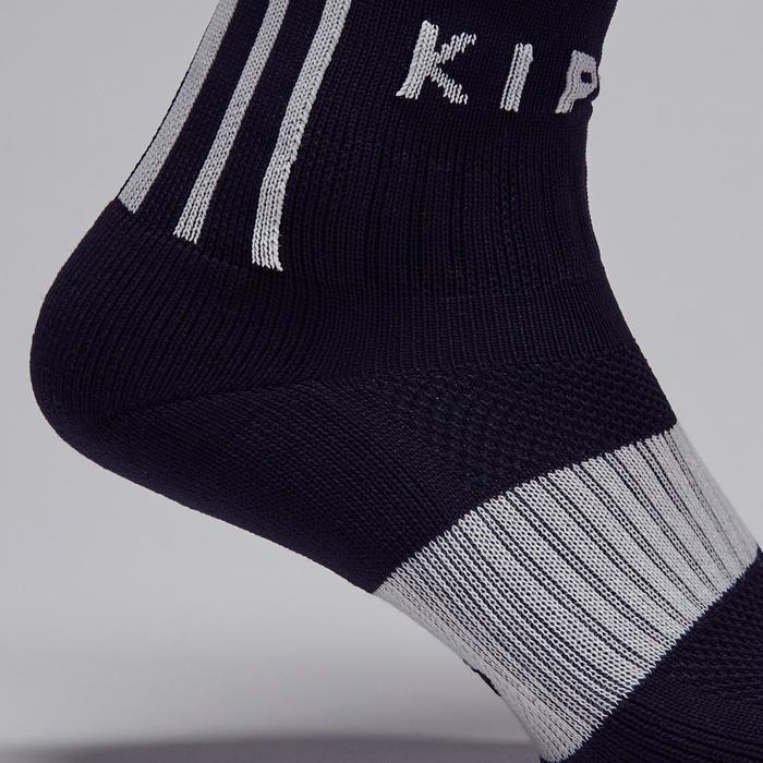Chaussette de football adulte F500 noire et grise - 1276617