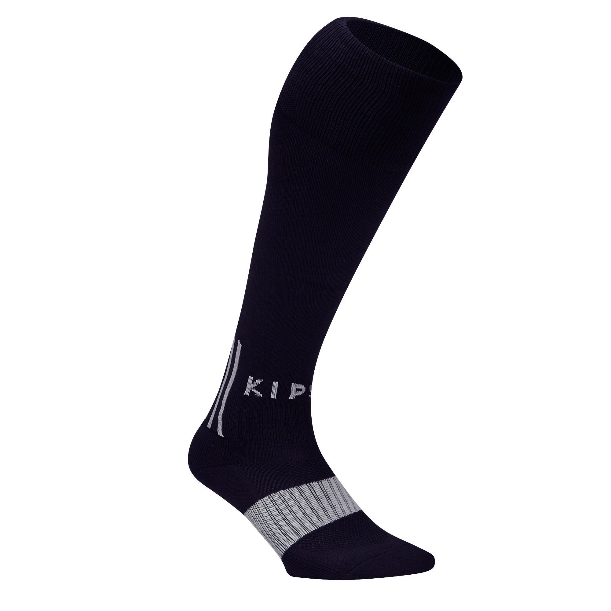 Chaussette de soccer adulte F500 noire et grise