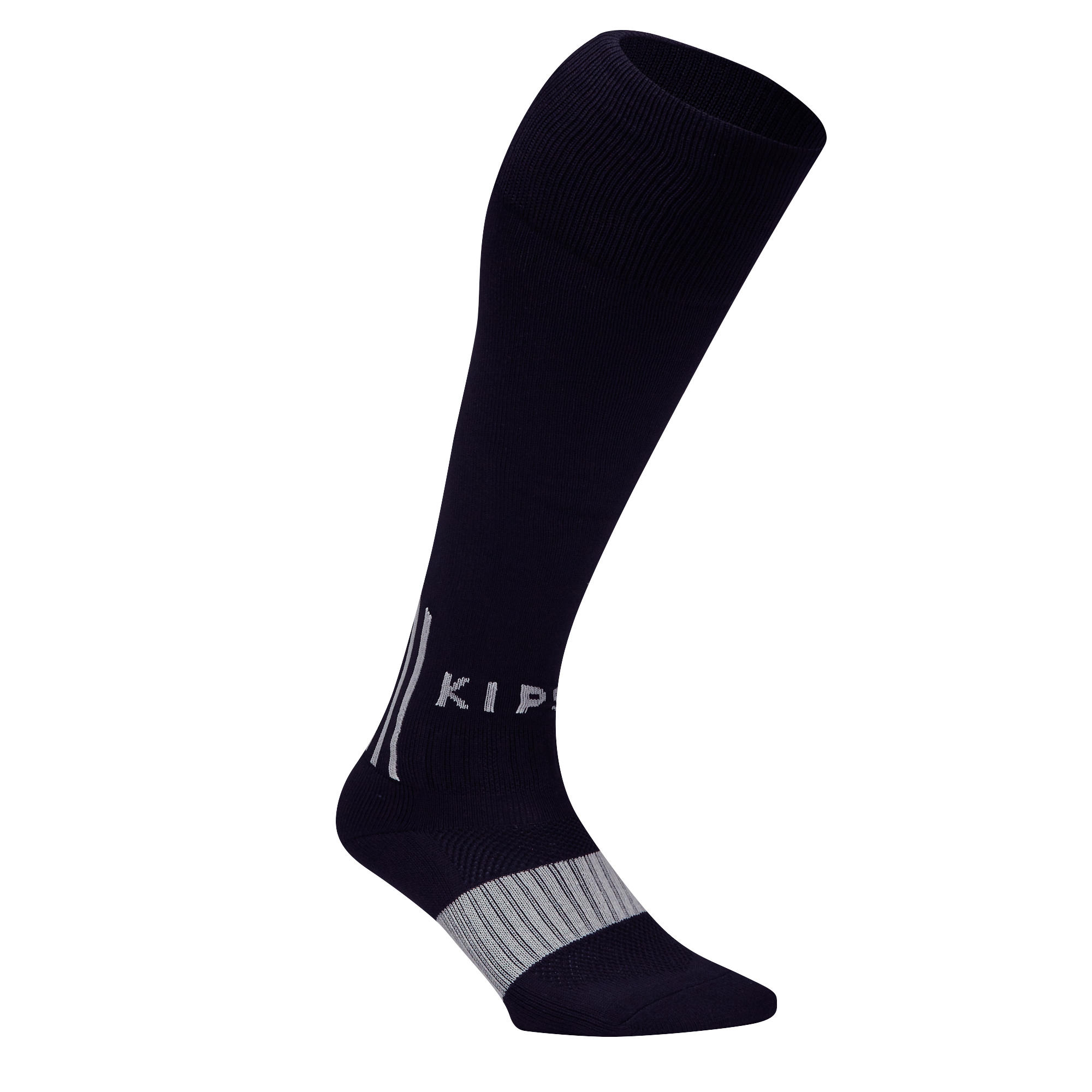 F500 Adult Football Socks - Black/Grey
