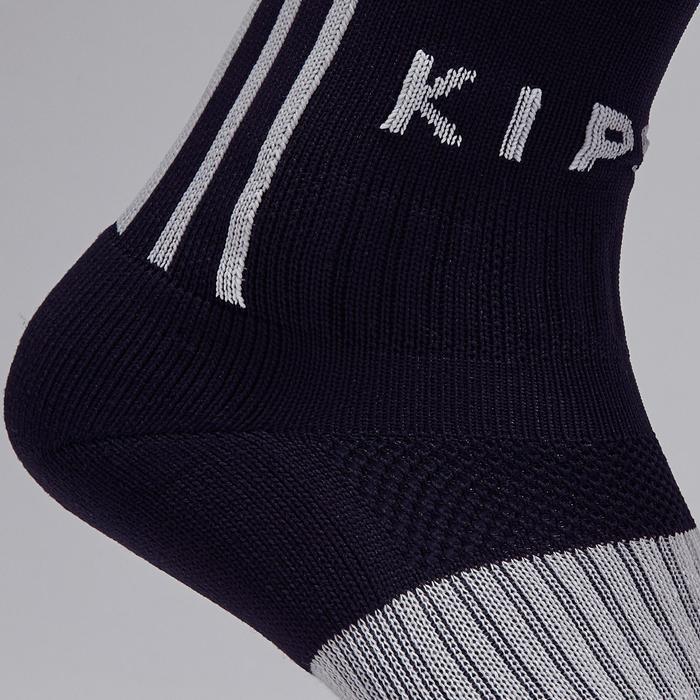 Chaussette de football adulte F500 noire et grise - 1276620