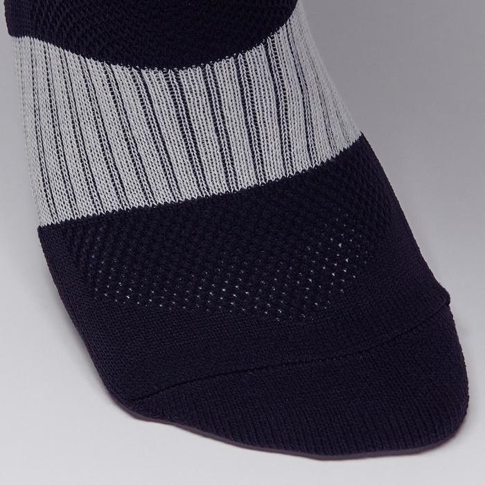 Chaussette de football adulte F500 noire et grise - 1276621