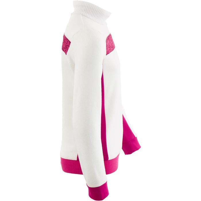 Unterziehjacke Mid Warm 100 Kinder weiß/rosa
