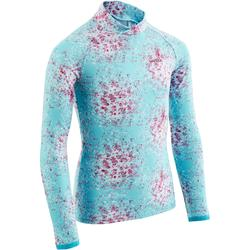 兒童滑雪底層上衣Freshwarm - 藍綠色