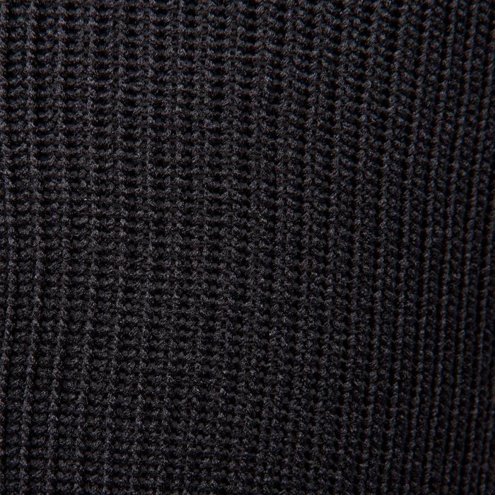 Chaussette de football enfant F500 noire et jaune fluo
