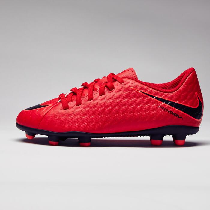 Chaussure de football enfant Hypervenom Phade FG rouge - 1276735