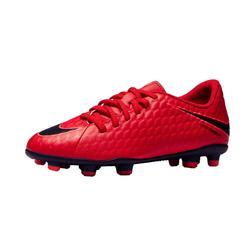 Chaussure de football enfant Hypervenom Phade FG rouge