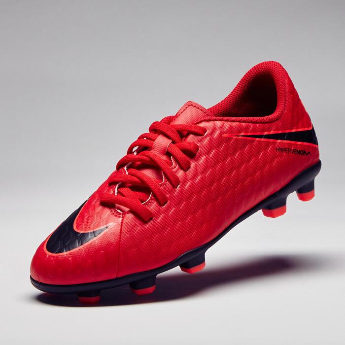 Chaussure de football enfant Hypervenom Phade FG rouge - 1276737