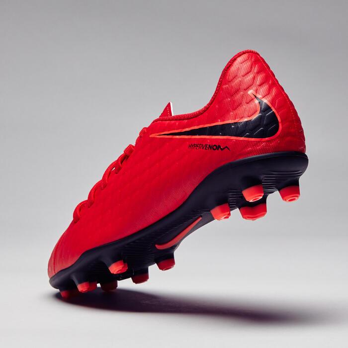 Chaussure de football enfant Hypervenom Phade FG rouge - 1276740