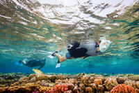 Ensemble de plongée avec tuba masque Easybreath palmes bleu turquoise noir