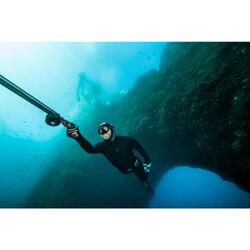 Veste de combinaison chasse sous-marine eau tempérée néoprène plush 5 mm SPF100