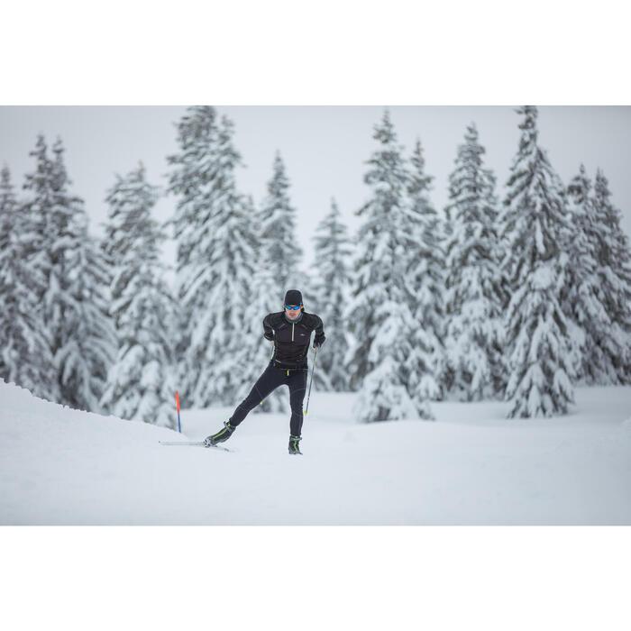 Skishirt Langlauf 900 Herren schwarz
