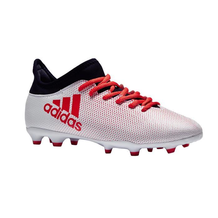 Botas de fútbol niños X 17.3 FG blanco Adidas  120ce84805fe9