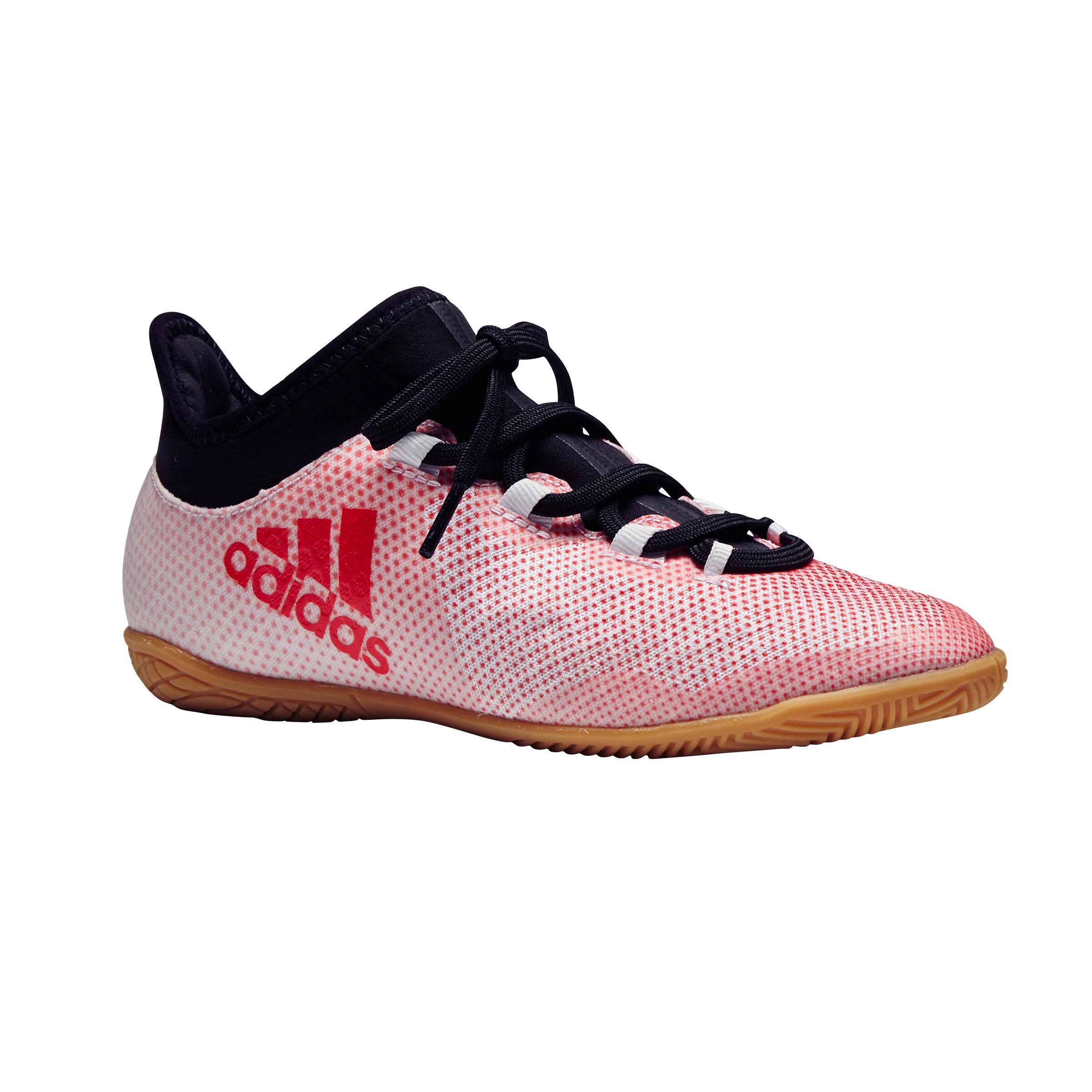 Adidas Zaalvoetbalschoenen kind X Tango 17.3 wit-rood