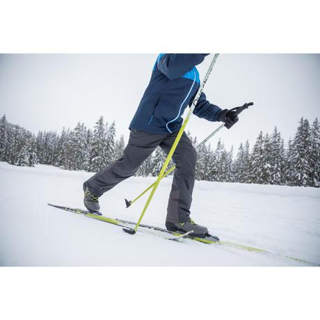 pantalon ski de fond loisir chaud junior nordic gris quechua. Black Bedroom Furniture Sets. Home Design Ideas