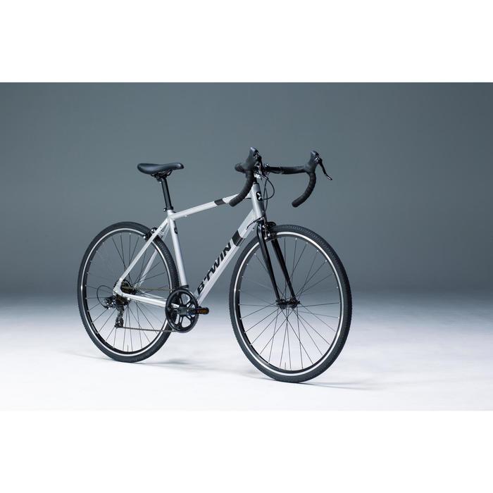 Rennrad Triban 100 Alu silber/schwarz