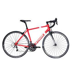 Racefiets / wielrenfiets Triban 500 rood met Microshift