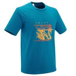 Camiseta senderismo en la naturaleza hombre NH500 azul