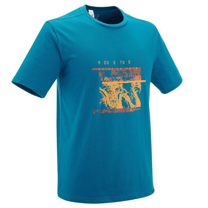 Heren T-shirt voor natuurwandelen NH500 blauw