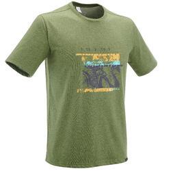 Camiseta senderismo naturaleza NH500 caqui hombre