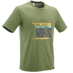 Men's NH500 hiking t-shirt - mottled grey