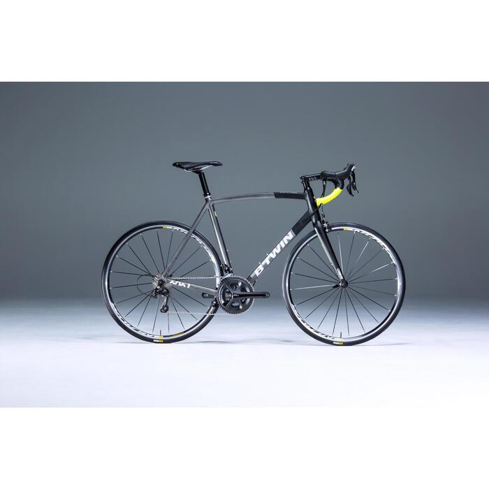 Racefiets Ultra 900 Aluminium Frame zwart/grijs/geel