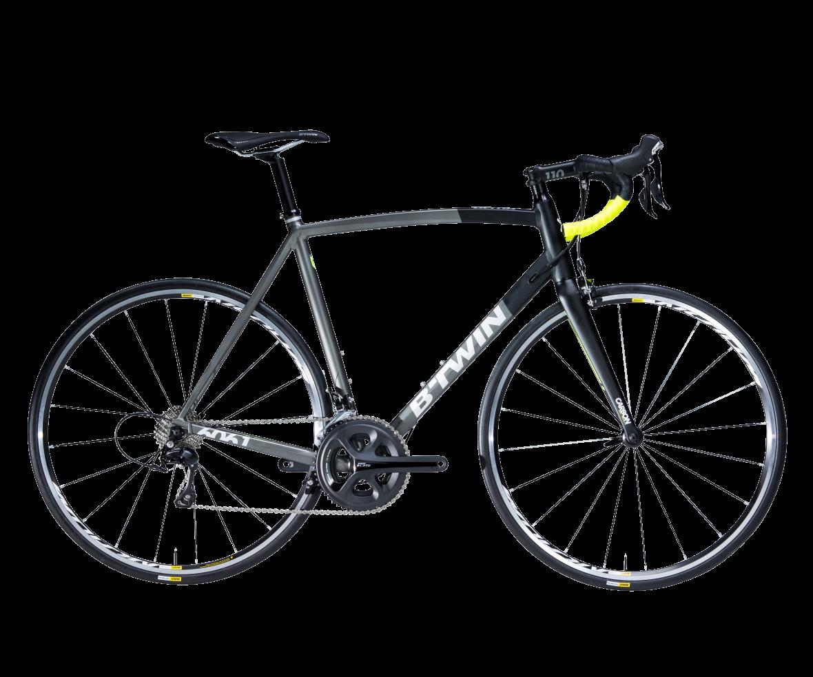 Rennrad Ultra 900 AF schwarz grau gelb
