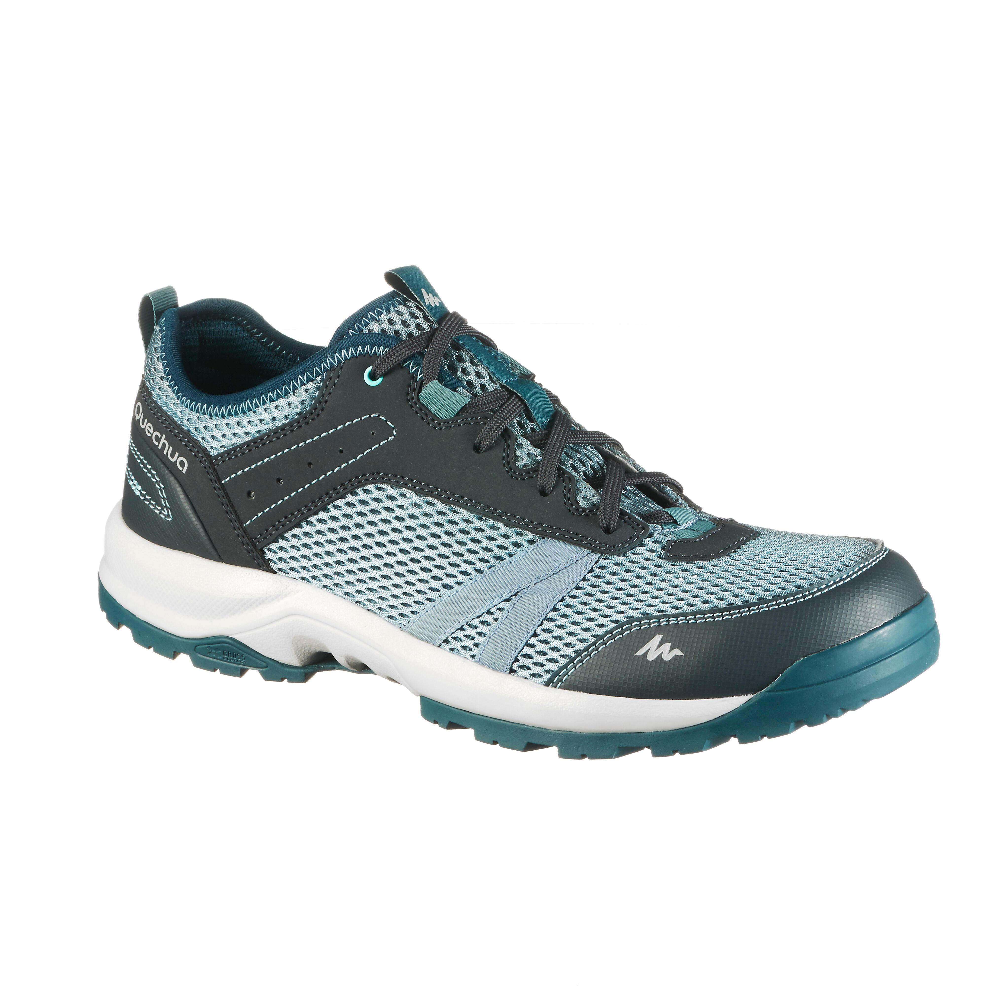 Quechua Schoenen voor wandelen in de natuur NH100 Fresh grijs blauw heren