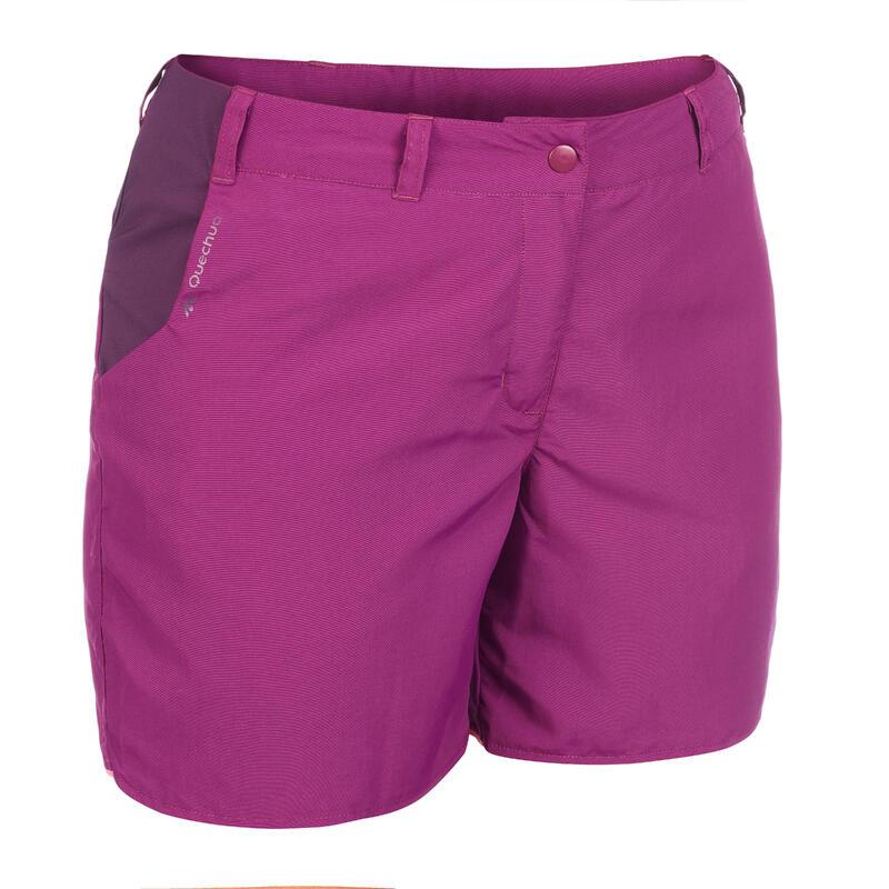 Women's MH100 mountain hiking shorts – Plum