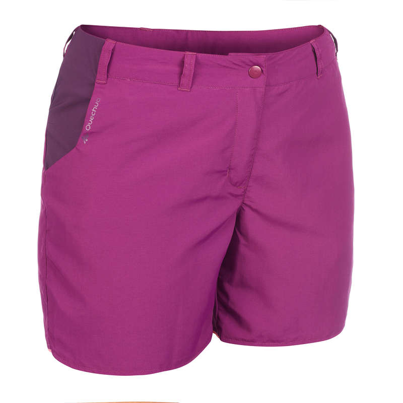 WOMEN MOUNT HIK SHORT, CORSAIR WARM W Hiking - Women's MH100 shorts - Plum QUECHUA - Hiking Clothes