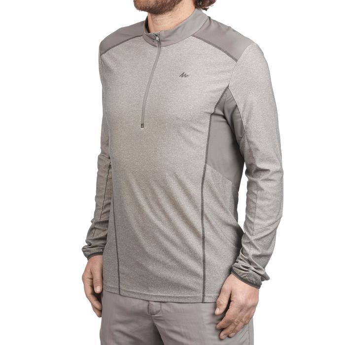 男款登山健行長袖T恤MH500