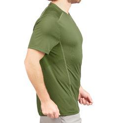 Camiseta Senderismo en la montaña MH500 manga corta hombre Verde oscuro